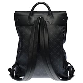 Louis Vuitton-Louis Vuitton Steamer backpack in Eclipse monogram canvas-Grey