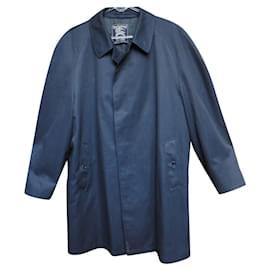 Burberry-Burberry vintage men's raincoat size M-Dark blue