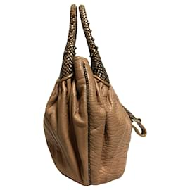 Fendi-Fendi Brown Spy Leather Handbag-Brown,Light brown