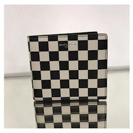 Saint Laurent-Saint Laurent wallet new-Black,White