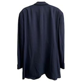 Hugo Boss-Hugo Boss Single Breasted Blazer in Black Virgin Wool-Black