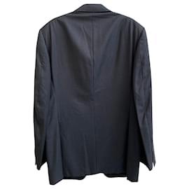 Canali-Canali Single Breasted Blazer in Grey Wool-Grey