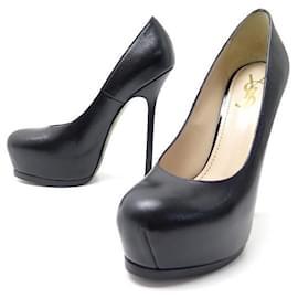 Yves Saint Laurent-NEW YVES SAINT LAURENT SHOES TRIBUTE PUMPS 208786 36.5 black leather-Black