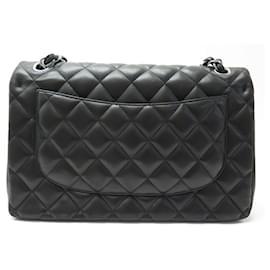 Chanel-HANDBAG CHANEL TIMELESS JUMBO CROSSBODY BLACK QUILTED LEATHER HAND BAG-Black