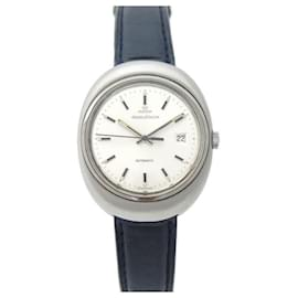 Jaeger Lecoultre-VINTAGE JAEGER LECOULTRE OVAL WATCH 42 MM AUTOMATIC STEEL BRUSH STEEL WATCH-Silvery