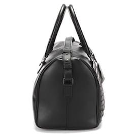 Yves Saint Laurent-Yves Saint Laurent Leather Studded Duffel Bag in black calf leather leather-Black