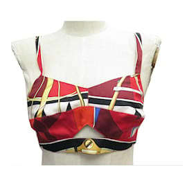 Hermès-LOT 3 BRASSIERES HERMES 40 M EN FOULARD BOUSSOLE + MUSIQUE DES SPHERES BRA SET-Multicolore