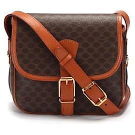 Céline-Celine Macadam Coated Canvas Crossbody Bag in brown coated/waterproof canvas-Brown