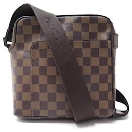Louis Vuitton-LOUIS VUITTON OLAV PM BAG IN DAMIER EBONY CANVAS HAND BAG-Brown