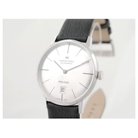 Autre Marque-NEW HAMILTON H WATCH384550 INTRAMATIC 38MM AUTOMATIC STEEL BOX WATCH-Silvery