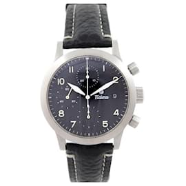 Autre Marque-NEW TUTIMA FX CHRONO WATCH 39 MM AUTOMATIC BRUSHED STEEL WATCH-Silvery