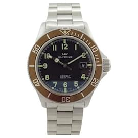Autre Marque-NEW GLYCINE COMBAT SUB WATCH 3863.3 43 MM AUTOMATIC STEEL WATCH-Silvery