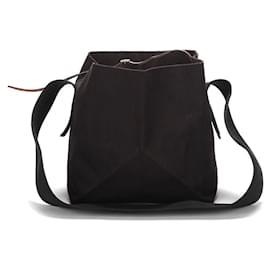 Céline-Celine Canvas Belt Bag in black canvas-Black