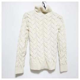 Alexander Mcqueen-[Used] ALEXANDER McQUEEN Long-sleeved Sweater Turtleneck-White