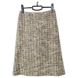 Alexander Mcqueen-[Used] ALEXANDER McQUEEN Skirt Knee length Black x Beige x Multi-Black,Multiple colors,Beige