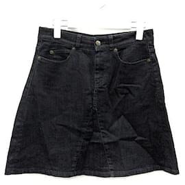 Alexander Mcqueen-[Used] Alexander McQueen ALEXANDER MCQUEEN LDN11 Denim Skirt Trapezoidal Mini S-Dark purple