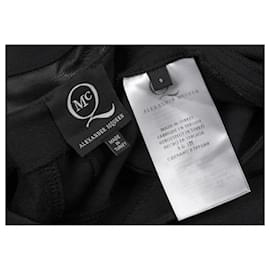 Alexander Mcqueen-[Used] ALEXANDER McQUEEN Synthetic Leather Curve Switching Stretch Dress Black S-Black