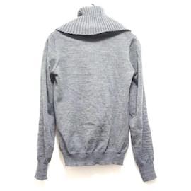 Alexander Mcqueen-[Used] ALEXANDER MCQUEEN Long-sleeved Sweater Turtleneck Dark Grey-Dark grey