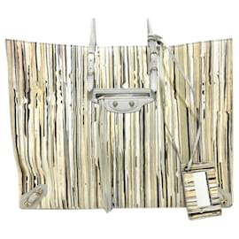 Balenciaga-Balenciaga Brown Papier A4 Lambskin Leather Tote Bag-Brown,Multiple colors,Beige