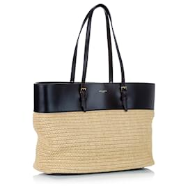 Yves Saint Laurent-YSL Brown Medium Boucle Shopping Bag-Brown,Black,Beige