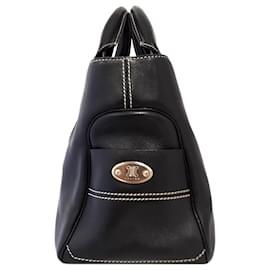 Céline-Celine Black Boogie Leather Handbag-Black