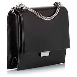 Yves Saint Laurent-YSL Black Classic Leather Crossbody Bag-Black