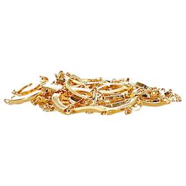 Yves Saint Laurent-YSL Gold Metal Chain- Link Belt-Golden