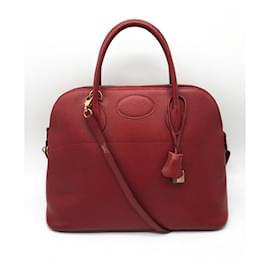 Hermès-Bags Briefcases-Red