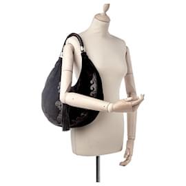 Yves Saint Laurent-Yves Saint Laurent Vintage 1998 Suede Hobo Bag-Black