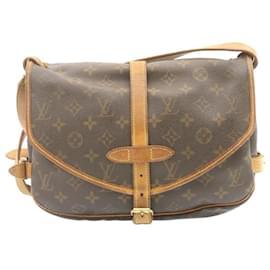 Louis Vuitton-Louis Vuitton Monogram Saumur 30 Shoulder Bag M42256 LV Auth 23881-Other