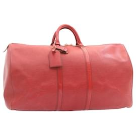 Louis Vuitton-Louis Vuitton Epi Keepall 55 Boston Bag Red M42957 LV Auth 22603-Red