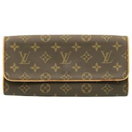 Louis Vuitton-LOUIS VUITTON Monogram Pochette Twin GM Shoulder Bag M51852 LV Auth 23890-Other