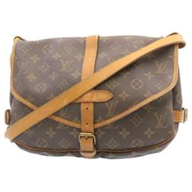 Louis Vuitton-Louis Vuitton Monogram Saumur 30 Shoulder Bag M42256 LV Auth 22979-Other