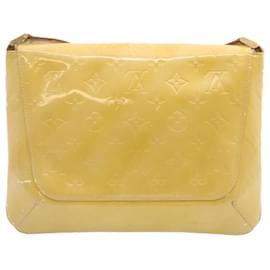 Louis Vuitton-LOUIS VUITTON Vernis Thompson Street Shoulder Bag Beige M91301 LV Auth 23900-Beige