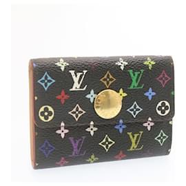 Louis Vuitton-LOUIS VUITTON Monogram Multicolor Porte Monnaie Cozy Coin Case M60007 auth 23905-Black