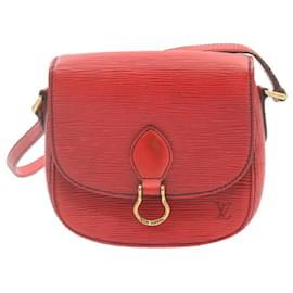 Louis Vuitton-LOUIS VUITTON Epi Saint Cloud PM Shoulder Bag Red M52217 LV Auth 23916-Red
