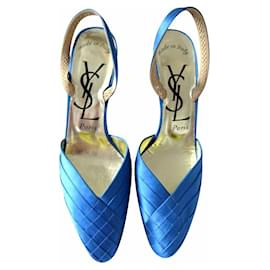Yves Saint Laurent-Heels-Blue