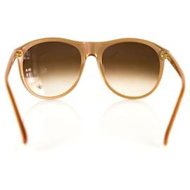 Chloé-Chloe CL 2190 C 03 Degrade Brown Lens Beige Sunglasses-Beige