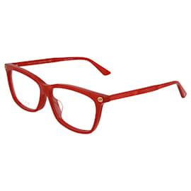 Gucci-Square Acetate Optical Glasses-Red