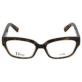 Dior-Rectangle Acetate Optical Frames-Brown