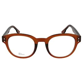 Dior-Round Acetate Optical Frames-Red