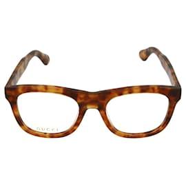 Gucci-Square Acetate Optical Glasses-Brown