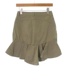 Alexander Mcqueen-[Used] ALEXANDER MCQUEEN Alexander McQueen Mini Skirt Ladies-Khaki