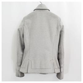Alexander Mcqueen-[Used] ALEXANDER MCQUEEN Wool Melton Jacket Personal Period-Grey