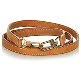 Louis Vuitton-Louis Vuitton Brown Vachetta Leather Strap-Brown