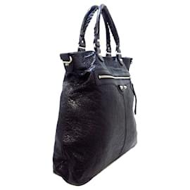 Balenciaga-Balenciaga Black Classic Smart Leather Tote Bag-Black