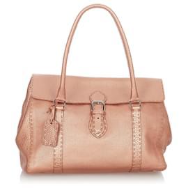 Fendi-Fendi Pink Selleria Linda Leather Handbag-Pink