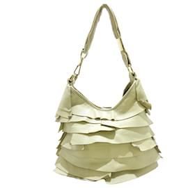 Yves Saint Laurent-YSL White Saint Tropez Leather Shoulder Bag-White