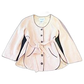 Chanel-Famous Belted Tweed Jacket-Pink