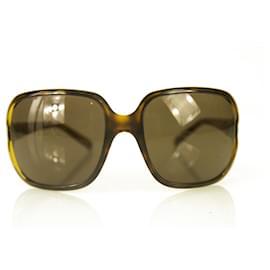 Dolce & Gabbana-Dolce & Gabbana D&G Tortoise Brown Oversize Sunglasses w. Crystals in Box-Brown